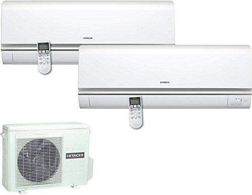 Condizionatore fisso Hitachi RAM18QH2A + RAS10QHA + RAS14QHA riscaldamento a+ raffreddamento a++ Capacità di raffreddamento 9000 + 12000 BTU h