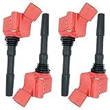 Bobina de encendido roja 06K905110D para Golf VI VII Jetta IV, Touran, Atlas Scirocco, Beetle A1, A3, A4, A5, A6, A7, Q3, Q5, Q7, TT, Ateca, Leon EA888, motor 1.8T 2.0T 2.5T 2.9T 4.0T 2007- (4)