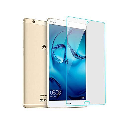 INSOLKIDON 2-Pezzi Compatibile con Huawei MediaPad M3 Tablet 8.4 Inch Vetro Temperato Film Ultra Sottile Chiarissimo 3D Premio Proteggi Schermo Protettivo M3 BTV-W09 DL09 (Trasparente)