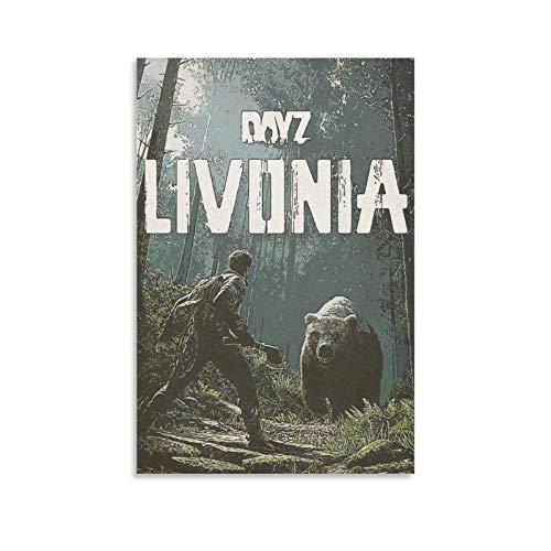 WONNZ DayZ Poster, dekoratives Gemälde, Leinwand, Wandkunst, Wohnzimmer, Poster, Schlafzimmer, Malerei, 30 x 20 cm