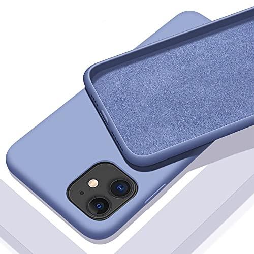Custodia in silicone liquido per iPhone 11 12 Pro Max mini 7 8 6 6S Plus XR X XS MAX 5 5S SE Cover, H, per iphone 12 Pro