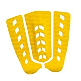 Almencla 3Pcs Tabla de Surf Surf Paddleboard Tracción Pad Tail Pad Deck Grips - Amarillo