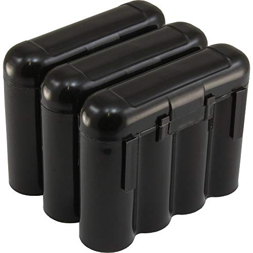 Powertron 3 AA/AAA / CR123A Black Battery Holder Storage Cases