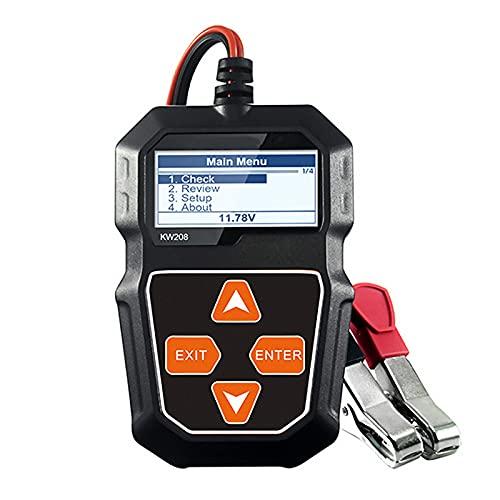 12V Auto Batterietester, 100-2000 CCA Autobatterie Tester Digitaler Batterieanalysator Ladesystem Testgerät für Auto LKW ATV SUV Boot Motorrad