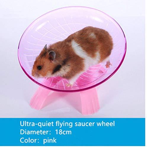 TOSSPER Haustier-Übungs-Rad Hamster Disc 18cm Durchmesser Pet Sport Maus Kunststoff Laufen Jogging Rad Blau Lustige Flying Saucer