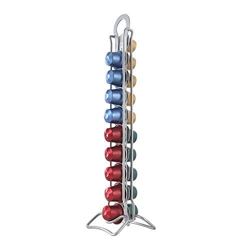 Metaltex Dispensador de Cápsulas Café Nesspreso, Metal, Frost, 15 cm