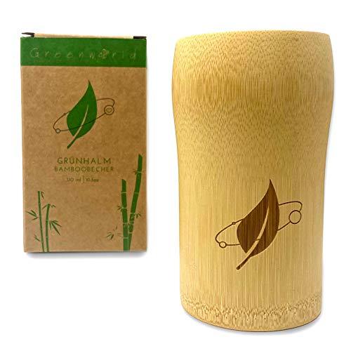Greenw0rld® Aufbewahrungsbecher | 100% Bambus | plastikfrei & chemikalienfrei | umweltfreundlich, nachhaltig & wiederverwendbar (310ml)