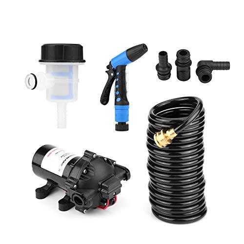 Elettrodomestici autolavaggio, kit pompa pompa lavaggio autopulente 12V 5.5GPM 70PSI per caravan/camper/barca/marina