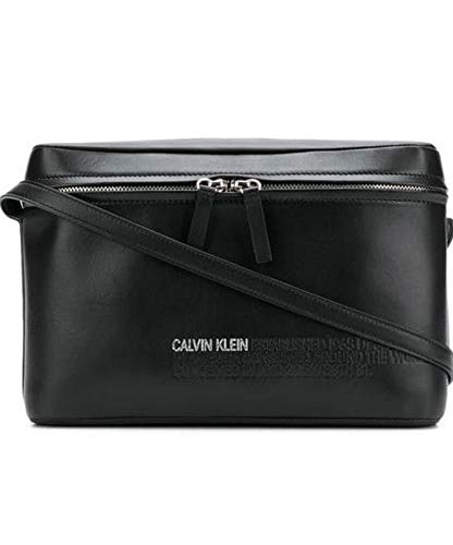Luxury Fashion | Calvin Klein Dames 84WLBA69T025P001 Zwart Leer Schoudertassen | Seizoen Outlet