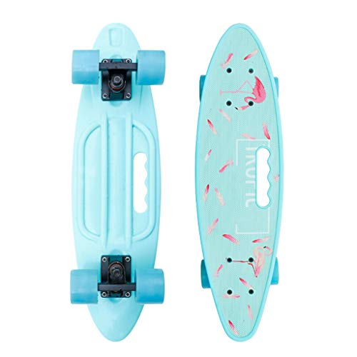 XXL Komplette Skateboards Double Trick Plastic Cruiser Skateboard, 24 x 7 Zoll, für Anfänger Kinder Jungen Mädchen Erwachsene Jugendliche