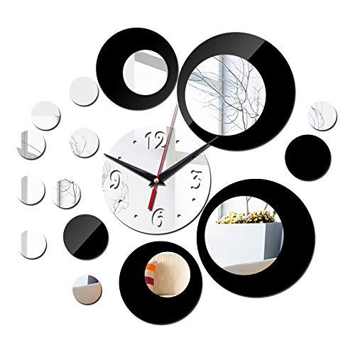 anruo nieuwe acryl klokken 3d muurstickers diy spiegel klok woonkamer geometrische naald quartz modern design horloge | acryl klok | klok 3d | diy spiegel klok - AliExpress