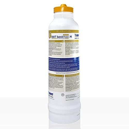 BWT Bestmax Premium Wasserfilter M Tauschpatrone - 2050l Kapazität bei 10° Gesamthärte.