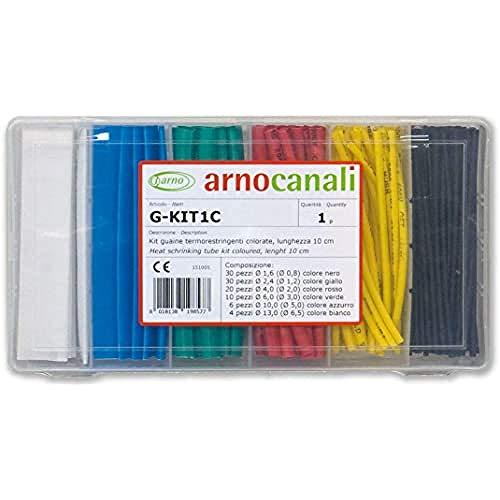 Arnocanali - Kit guaine termorestringenti colorate 100 pezzi