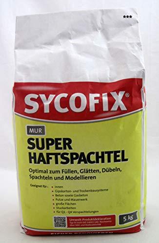 MUR Super-Haftspachtel 5 kg mit hohem Weißgrad für Innen zum Füllen, Glätten, Dübeln, Spachteln und Modellieren, Gipskarton Spachtelmasse, für große Flächen, für Spachtelarbeiten von Q1-Q4