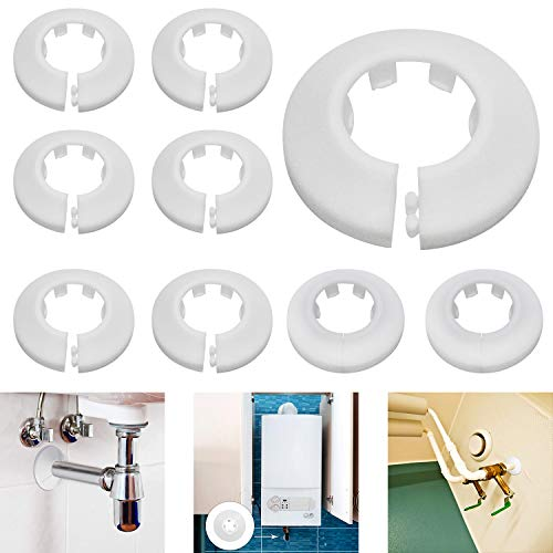 Heizungsrohr Rosette Rohrmanschetten Heizkörper 24 Stück 16mm/20mm/25mm Kunststoff Heizkörperrosetten Rohrmanschette