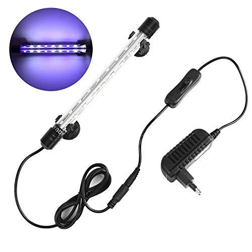 NO.17 Luz LED sumergible para pecera, la más nueva luz de acuario LED subacuática de ángulo de 240 °, 5050 SMD 18 Luz LED para pecera, IP68, 7.5W