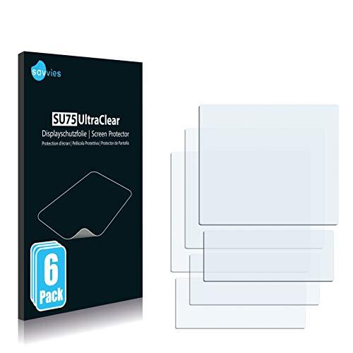 Savvies 6X Schutzfolie kompatibel mit Sony Ericsson Z320i Bildschirmschutz-Folie Ultra-transparent