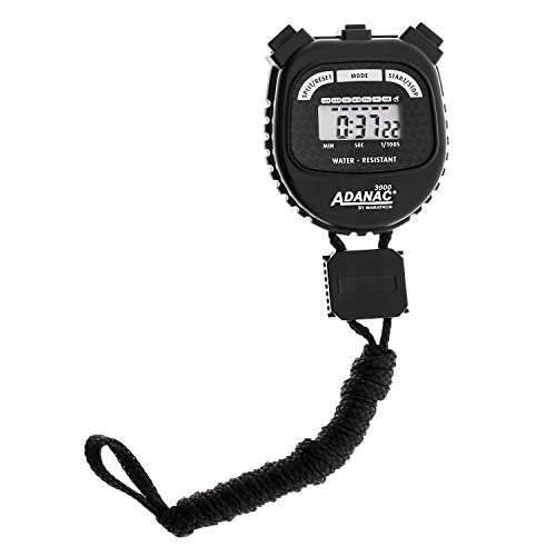 MARATHON ADANAC 3000 Digital Stopwatch Timer, Water Resistant, Battery Included - 10 Pack