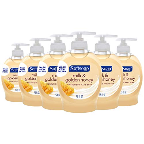 Softsoap Moisturizing Liquid Hand Soap, Milk and Honey - 7.5 Fluid Ounce (6 Pack)