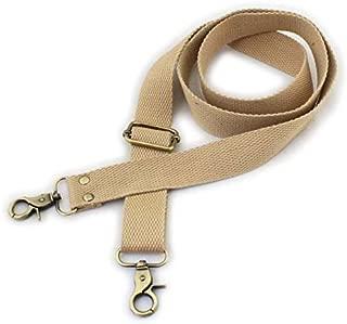 Wento 1pcs 31''-57'' Webbing Shoulder Cross Khaki Bag Strap,Replacement Cross Body Purse Straps,Khaki Canvas Purses Straps WTD34 (Khaki)