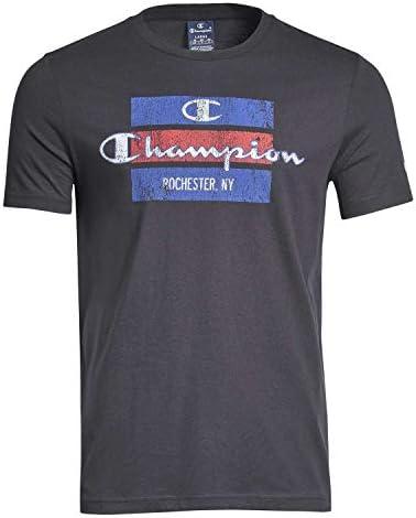 Camiseta Champion Negro para Hombre Manga Corta - algodón