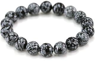 スノーフレークオブジディアン ブレスレット オブジディアン 水晶 天然石 パワーストーン 数珠