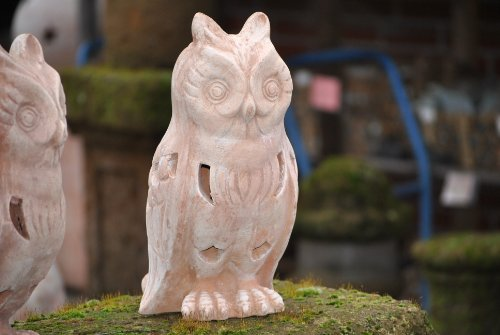 Kunert-Keramik Eule,Dunkles Terracotta,frostfest,32cm,superschön
