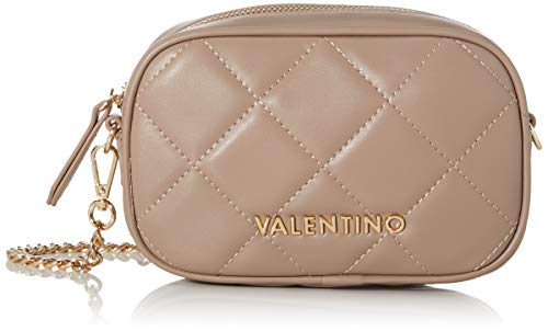 Mario Valentino Valentino by Damen Ocarina Umhängetasche, Beige (taupe), 5x11x18 cm