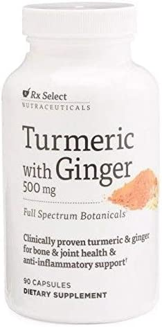 Rx Select Turmeric with Ginger Popular overseas 500 mg Bargain sale