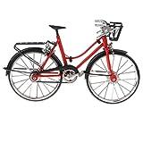KESOTO 1:10 Alloy Diecast Fahrzeuge Modell Miniatur Fahrrad Rennrad für Puppenhaus Garten Zubehör - A - Rot -