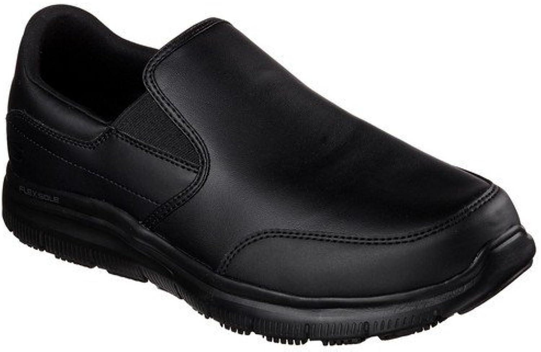 Skechers Work Men's Flex Advantage SR - Bronwood Black Leather Loafer 7 D (M)