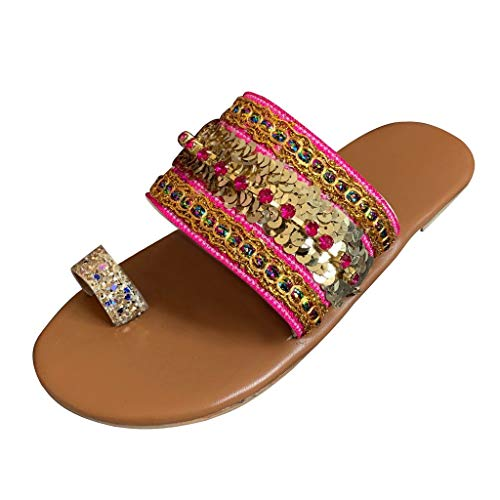 New AgrinTol Women Summer Sandals Flip-Flops Greek Style Flip Flop Sandals Slippers Bohemia Beach Sl...