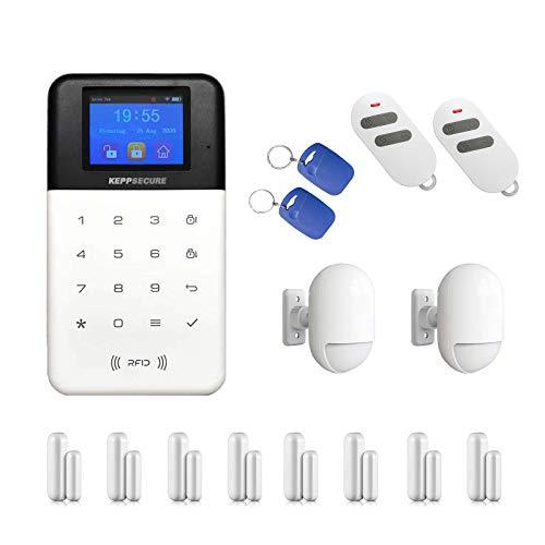 Alexa kompatibles Profi WLAN&GSM Funk Alarmanlagenset Model W-211.WiFi-Smarthome vom Fachhändler KEPPSECURE- Alarmanlage mit Bewegungsmelder und WiFi Funktion (Alarmanlagen Set 2)