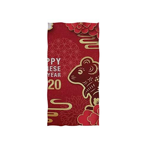 Handtücher 30x15in, 2020 Chinesisches Neujahrsfest-Ratten-Vektor, der dünnes Badezimmer-Tuch, Druck-weiches in hohem Grade saugfähiges kleines Badetuch für Badezimmer, Hotel, Turnhalle und Badekurort