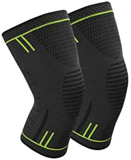 Sable Knee Brace Support Compression Sleeves, 1 Pair Wraps Pads for Arthritis- Running- Pain Relief- Injury Recovery- Bask...