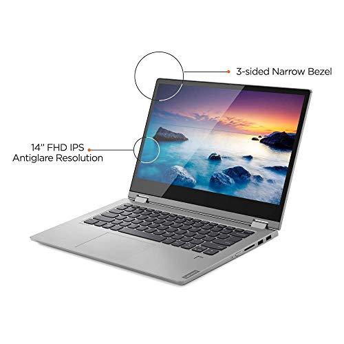 Lenovo Ideapad C340 Intel Core I7 8th Gen 14-inch FHD Laptop 2-in-1 Touchscreen ( 8GB RAM / 512 GB SSD / Windows 10 / MX230 2GB G5 64B / Office Home and Student 2019 / Platinum / 1.65 Kg), 81N4007DIN
