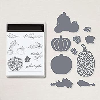 Pumpkin Halloween Dies and Stamps for Card Making Leaves Metal Cutting Dies Coordinate Clear Rubber Stamp for DIY Scrapbooking Paper Crafting Handmade Crafts Arts Crafts Scrapbooking Supplies Die Cuts