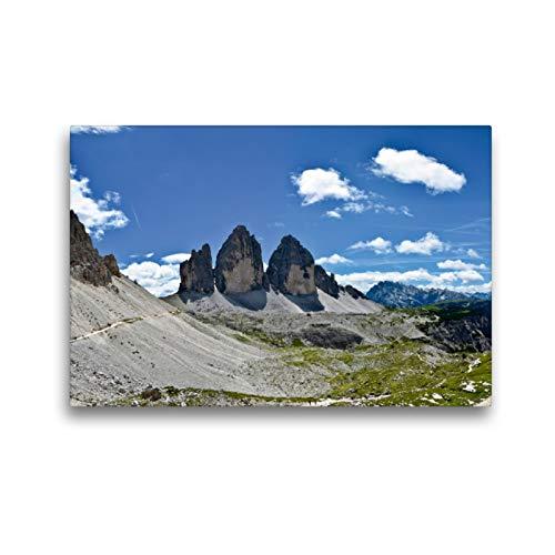 Premium Textil-Leinwand 45 x 30 cm Quer-Format Drei Zinnen aus Richtung Norden | Wandbild, HD-Bild auf Keilrahmen, Fertigbild auf hochwertigem Vlies, Leinwanddruck von Joachim Barig