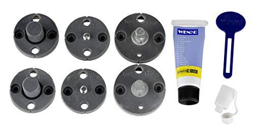 WENKO Power-Loc® Ersatz-Set - Befestigen ohne bohren, 8-teilig, Kunststoff