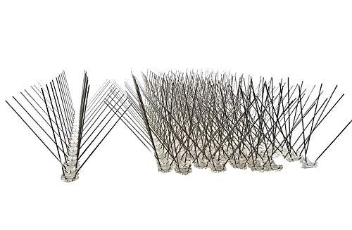 10 Stück (5 m) Taubenabwehr, 4 Reihen Spikes auf 50 cm Polycarbonatleiste, Taubenspikes, Vogelabwehr - DIREKT VOM HERSTELLER