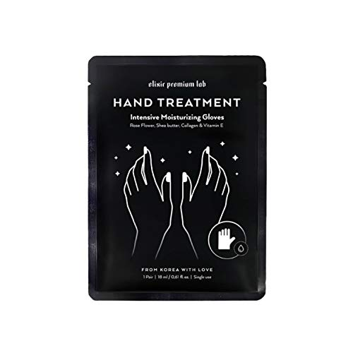 Moisturizing Gloves KOREAN Hand Mask - Premium Collagen Treatment Gloves for Hydrating Hands and Nails - Spa with Shea Butter – Best Moisturizer Hand Care for Women & Men - Repairs Dry Hands (1 Pack)