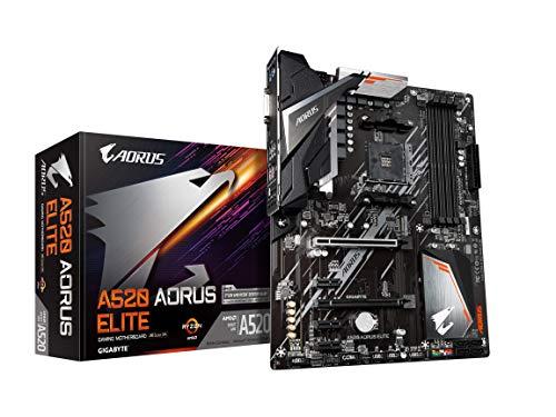 Gigabyte A520 AORUS Elite (AM4/AMD/ A520/ ATX/M.2/SATA 6Gb/s/USB 3.2 Gen 2/Realtek GbE LAN/Motherboard)