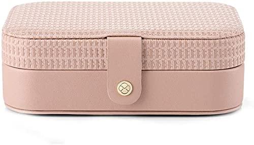 Whxl joyería joyería joyería caja de almacenamiento pendientes caja de joyería Pendientes de cuero portátil anillo caja de almacenamiento de joyería multifuncional