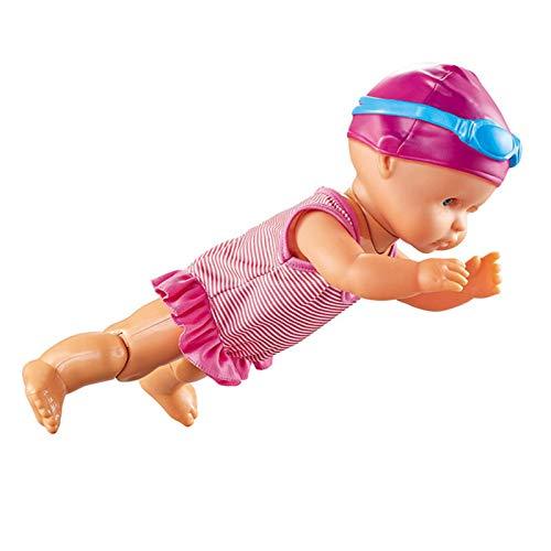 Dequate Swimm Puppe - Schwimmende Puppe [Ich Kann Schwimmen] Für Hauptdekorationen Feiertags Geburtstags Geschenke (Silikonfrei, Ungenießbar)