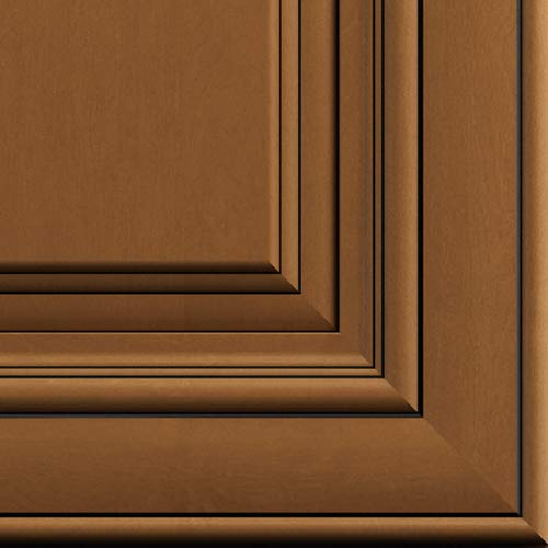 Lily Ann Cabinets Quarter Size Door Sample for Kitchen Wall and Base Cabinets (Charleston Toffee)