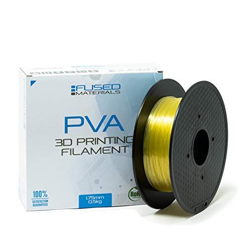 Filament d'imprimante 3D PVA Matériaux fusionnés, 1,75 mm, rouleau de 0,5 kg