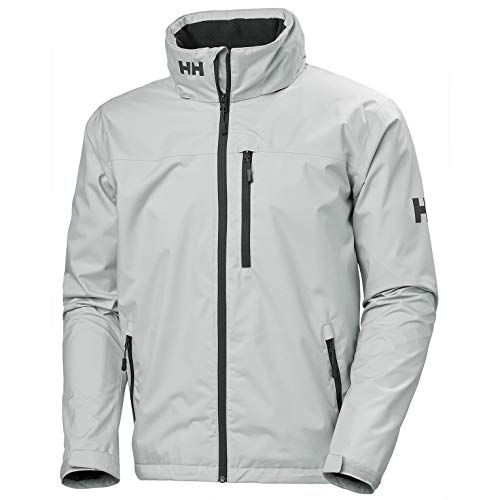 Helly Hansen Herren Crew Hooded Midlayer Jacke, Grey Fog, XL