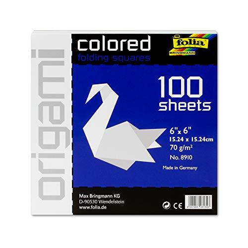 Folia Origami Folding Paper, 6' x 6', White, 100 Sheets per Package