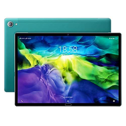 Nrpfell Tablet PC, Tableta de 10,8 Pulgadas, 2 + 32 GB de Reconocimiento Facial de Pantalla de 1,6 GHz 4K, para Empresas, Verde, Enchufe de la UE