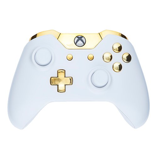 Xbox One Controller - Piano White & Gold